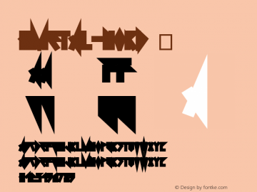 ☞0Metal NORD 1.0;com.myfonts.easy.dimitrelima.0metal.nord.wfkit2.version.4nWL图片样张