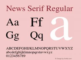 News Serif 001.000图片样张