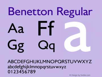 Benetton-Regular Version 1.000图片样张