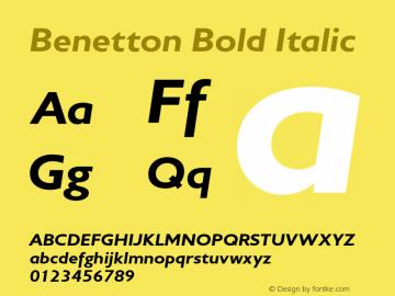 Benetton-HeavyOblique Version 1.000图片样张