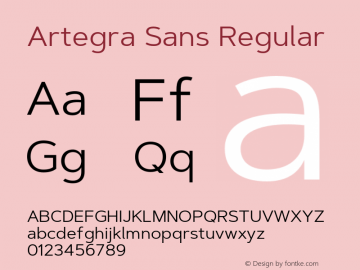 ArtegraSans-Regular Version 1.00;com.myfonts.easy.artegra.artegra-sans.regular.wfkit2.version.4Kpw图片样张