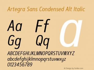 ArtegraSansCondensedAlt-Ita Version 1.00;com.myfonts.easy.artegra.artegra-sans.alt-cond-regular-italic.wfkit2.version.4KnW图片样张