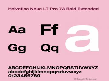 HelveticaNeueLTPro-BdEx Version 1.500;PS 001.005;hotconv 1.0.38图片样张