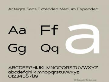 ArtegraSansExtended-MedExp Version 1.00;com.myfonts.easy.artegra.artegra-sans.extend-medium.wfkit2.version.4KrA图片样张