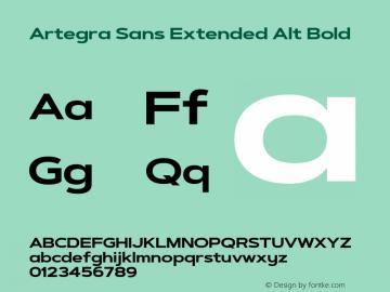 ArtegraSansExtendedAlt-Bold Version 1.00;com.myfonts.easy.artegra.artegra-sans.alt-extend-bold.wfkit2.version.4Kr6图片样张