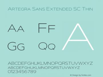 ArtegraSansExtendedSC-Thin Version 1.00;com.myfonts.easy.artegra.artegra-sans.sc-extend-thin.wfkit2.version.4Kot图片样张
