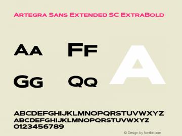 ArtegraSansExtendedSC-ExtBd Version 1.00;com.myfonts.easy.artegra.artegra-sans.sc-extend-extrabold.wfkit2.version.4Kr2图片样张