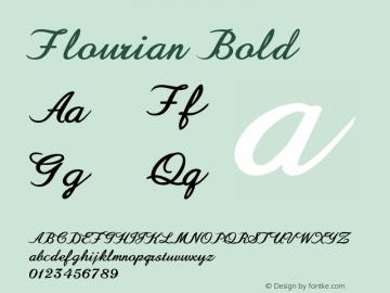 Flourian-Bold Version 1.000图片样张