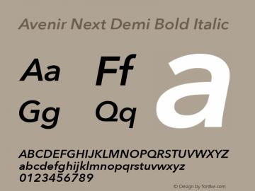 Avenir Next Demi Bold Italic 8.0d5e5图片样张