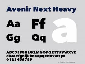 Avenir Next Heavy 8.0d5e5图片样张