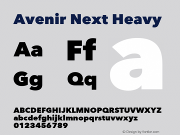 Avenir Next Heavy 8.0d5e5图片样张