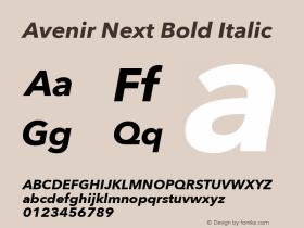 Avenir Next Bold Italic 8.0d5e5图片样张