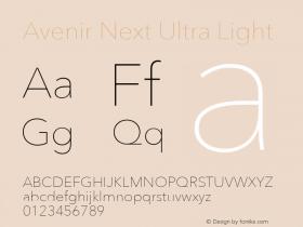 AvenirNext-UltraLight 8.0d5e5图片样张