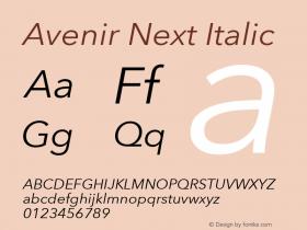 Avenir Next Italic 8.0d5e5图片样张