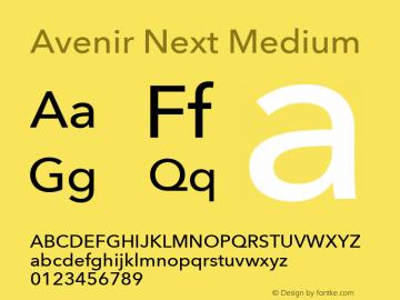 Avenir Next Medium 8.0d5e5图片样张