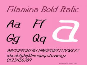 Filamina-BoldItalic Version 1.000图片样张