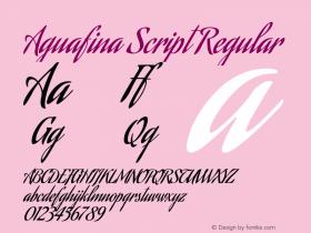 Aguafina Script Regular Version 1.000图片样张