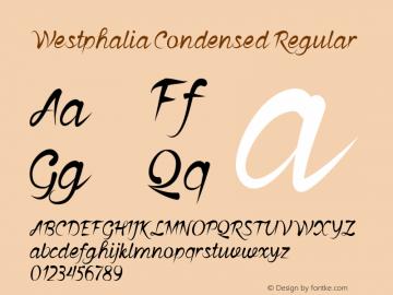 Westphalia-CondensedRegular Version 1.000图片样张
