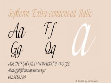 Sepherin-ExtracondensedItalic Version 1.000图片样张