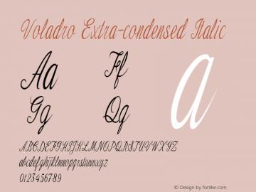 Voladro-ExtracondensedItalic Version 1.000图片样张