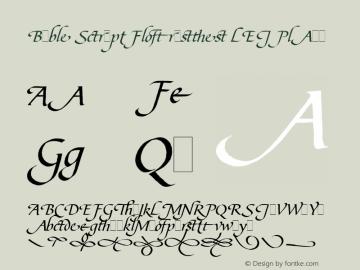 Bible Script Flourishes LET Font,Bible Script Flourishes LET Plain