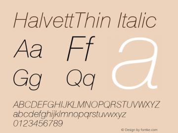 halvett thin font