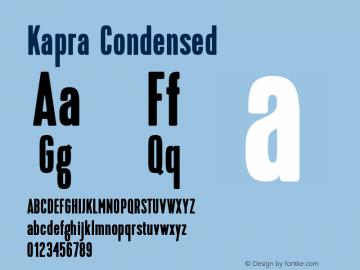 Kapra-Condensed Version 1.000;PS 001.001;hotconv 1.0.56图片样张
