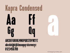Kapra-Condensed Version 1.000;PS 001.001;hotconv 1.0.56图片样张
