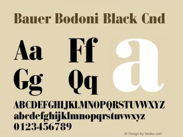 BauerBodoni-BlackCnd Version 001.003; t1 to otf conv图片样张