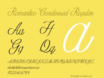 Romantico-CondensedRegular Version 1.000图片样张