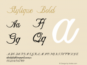 Stylique-Bold Version 1.000图片样张