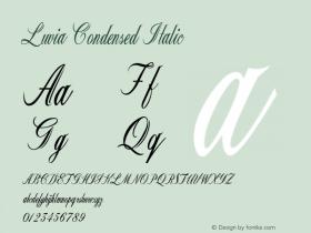Luvia-CondensedItalic Version 1.000图片样张