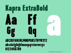 Kapra-ExtraBold Version 1.000;PS 001.001;hotconv 1.0.56图片样张