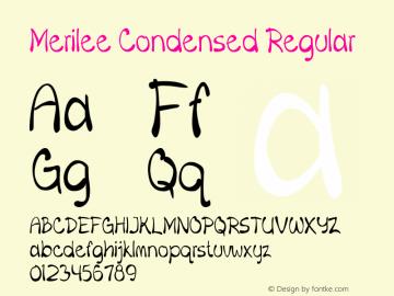 Merilee-CondensedRegular Version 1.500图片样张