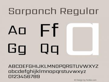 Sarpanch Version 2.003;PS 1.0;hotconv 1.0.78;makeotf.lib2.5.61930; ttfautohint (v1.1) -l 8 -r 50 -G 200 -x 14 -D latn -f deva -w gGD -W -c图片样张
