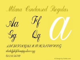 Milana-CondensedRegular Version 1.000图片样张