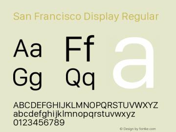 San Francisco Display Regular Version 1.00 March 2, 2017, initial release图片样张