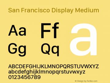 San Francisco Display Medium Version 1.00 March 2, 2017, initial release图片样张