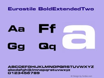 Eurostile BoldExtendedTwo Fontographer 4.7 4/10/07 FG4M0000002045图片样张