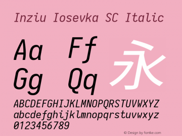 Inziu Iosevka SC Italic Version 1.12.5图片样张