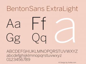 BentonSans-ExtraLight Version 001.000图片样张