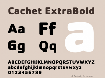 Cachet ExtraBold Version 001.000图片样张