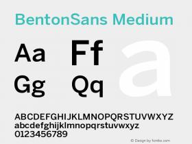 BentonSans-Medium Version 001.000图片样张