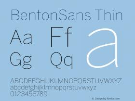 BentonSans-Thin Version 001.000图片样张