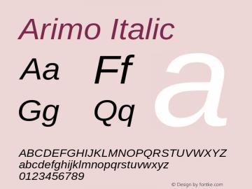 Arimo Italic Version 1.23图片样张