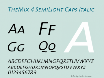 TheMix-4SemiLightCapsItalic 1.0图片样张