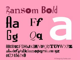 Ransom Bold Version 1.05图片样张