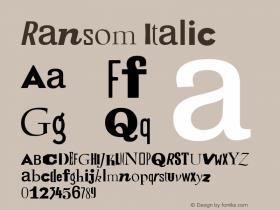 Ransom Italic Version 1.05图片样张