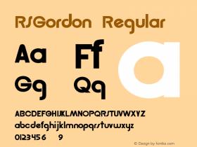 RSGordon Converted from c:\windows\system\RSGORDON.TF1 by ALLTYPE图片样张
