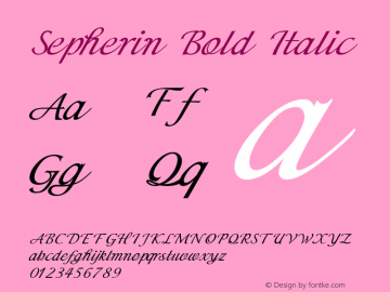 Sepherin-BoldItalic Version 1.000图片样张